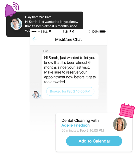 Send rich messages to customers in your apps