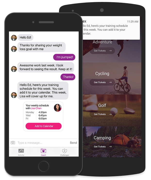 Sunshine Conversations messaging lives right inside your app